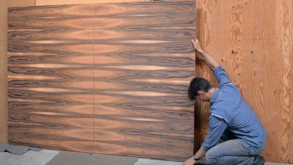 Veneered Panels Before Finish